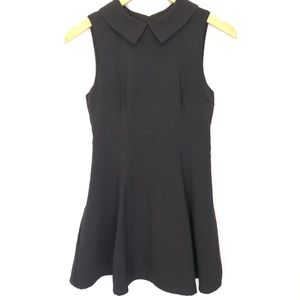 Lulu's Peter Pan Collared Mini Flare Black Dress S